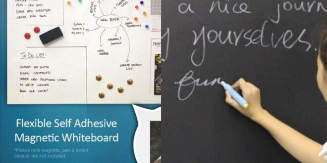Magnetická tabule na zeď snadno a rychle. Jak si ji vyrobit?